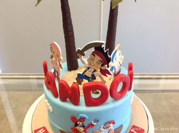 2222, second birthday, 2nd birthday, jake and the neverland pirates, captain hook, smee, palm tree, trees, water, ocean, izzy, cubby, jake, skully, blue, red, edible image