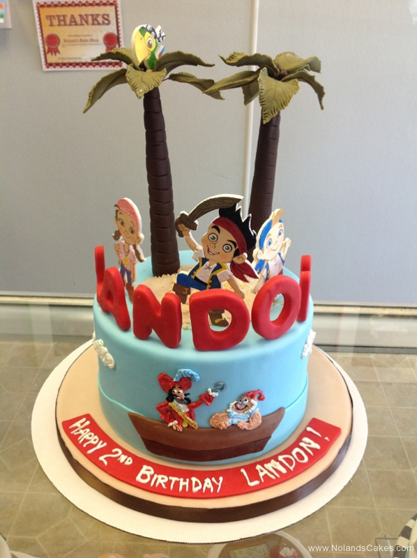 2218, second birthday, 2nd birthday, jake and the neverland pirates, captain hook, smee, palm tree, trees, water, ocean, izzy, cubby, jake, skully, blue, red, edible image