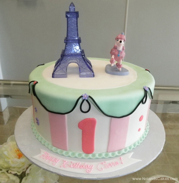 2236, first birthday, 1st birthday, paris, france, poodle, pink, green, pastel, eiffel tower