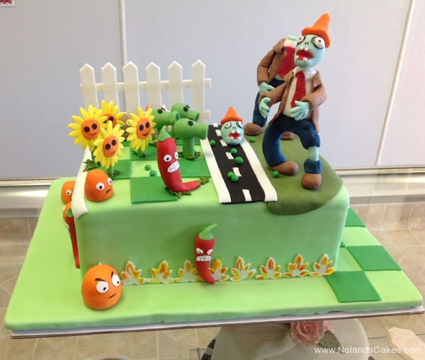 2270, birthday, plants vs zombies, pvz, sunflower, sunflowers, peashooter, peashooters, zombies, zombie, figure