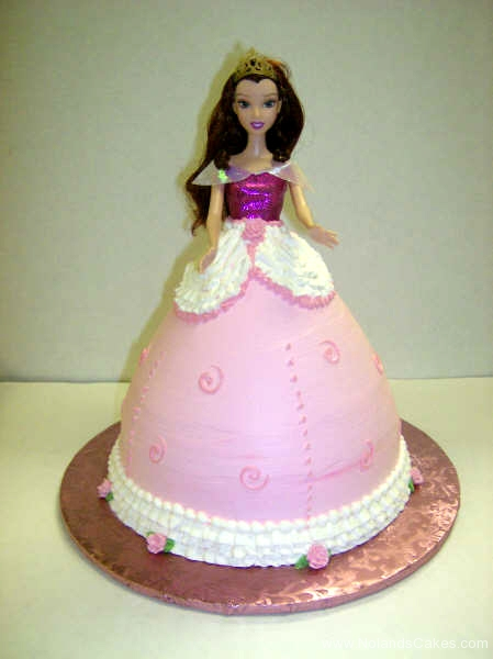 2294, birthday, barbie, barbie cake, princess, disney, dress, pink, purple, carved