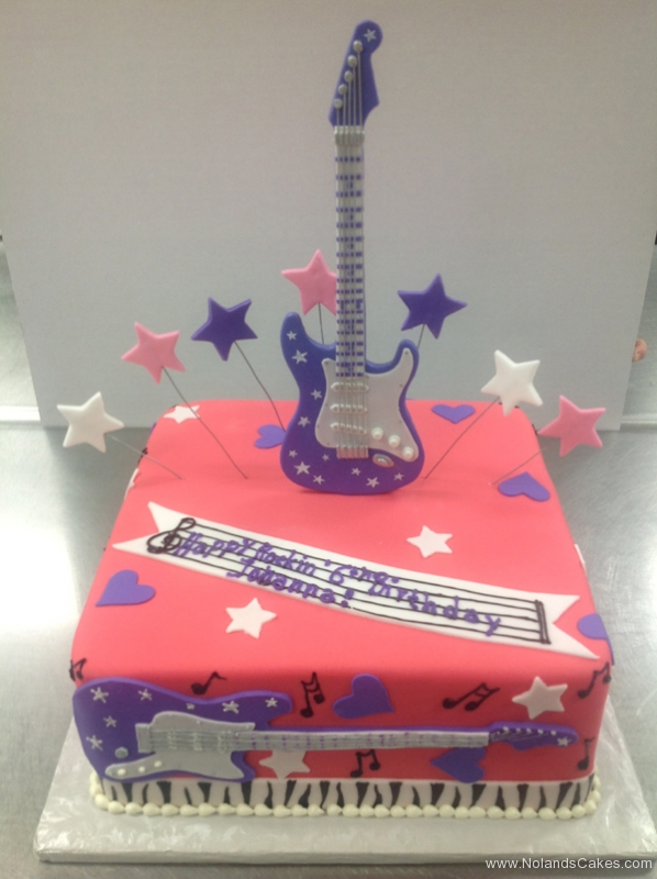 2311, sixth birthday, 6th birthday, rock and roll, music, guitar, star, stars, heart, hearts, red, purple, white