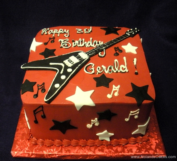 2315, third birthday, 3rd birthday, music, guitar, star, stars, red, black, white