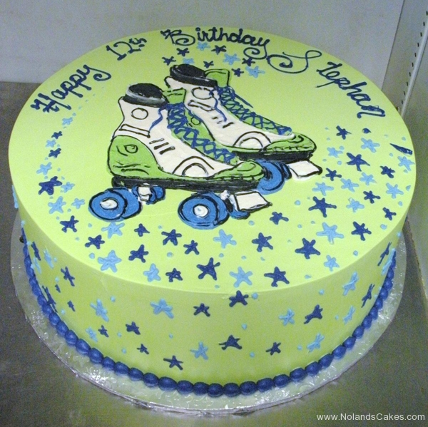 2323, twelfth birthday, 12th birthday, roller skates, star, stars, blue, green