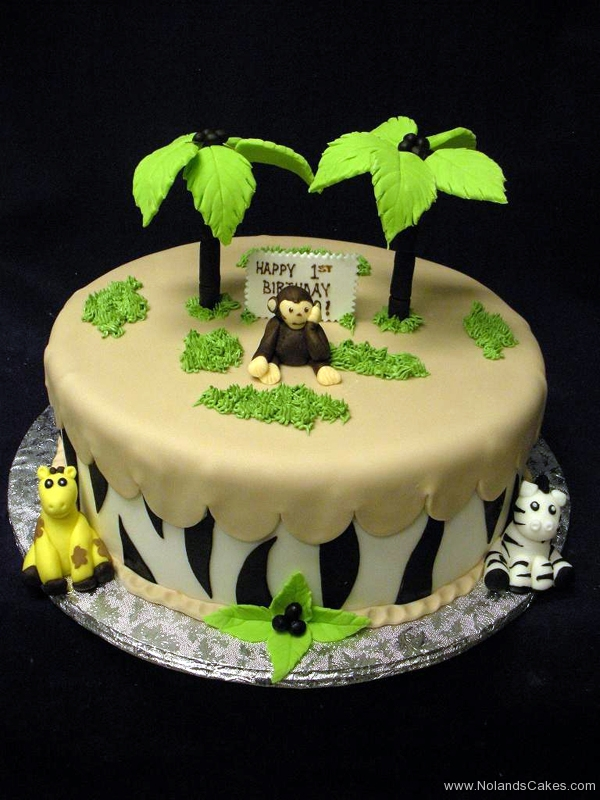 2328, first birthday, 1st birthday, monkey, giraffe, zebra, stripe, jungle, savanna, tree, trees, figure, figures, safari