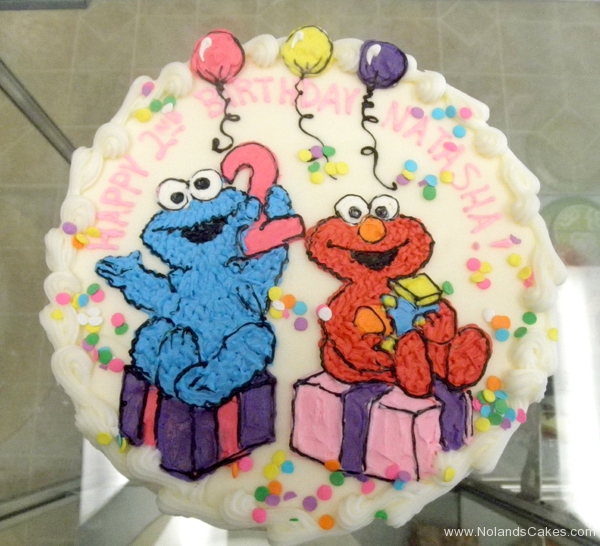 2340, second birthday, 2nd birthday, elmo, cookie monster, balloon, balloons, gift, gifts, present, presents, pink, purple