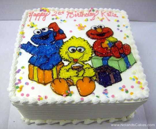 2343, second birthday, 2nd birthday, elmo, cookie monster, big bird, gift, gifts, present, presents