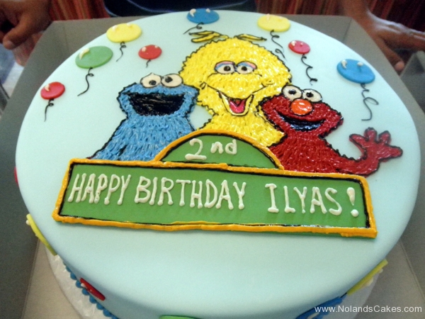 2338, second birthday, 2nd birthday, sesame street, elmo, big bird, cookie monster, balloon, balloons