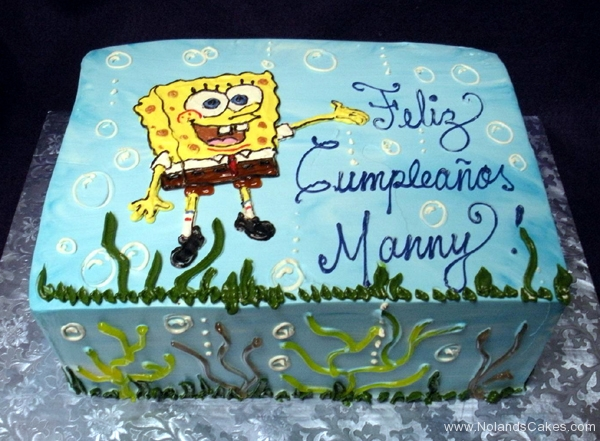 2364, birthday, spongebob, underwater, ocean, sea, kelp, spongebob squarepants, yellow, blue, green