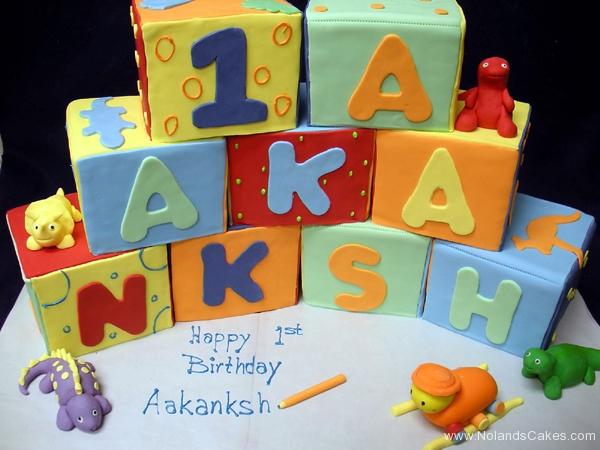 2384, first birthday, 1st birthday, blocks, block, carved, stacked, dino, dinosaurs, dinosaur