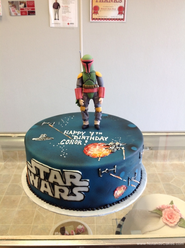 2390, 7th birthday, seventh birthday, star wars, boba fett, figure, space, space ships