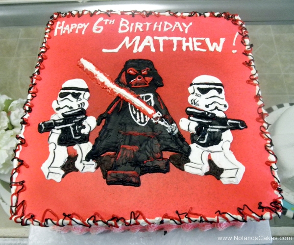 2397, 6th birthday, sixth birthday, lego star wars, star wars, darth vader, stormtrooper, stormtroopers, red