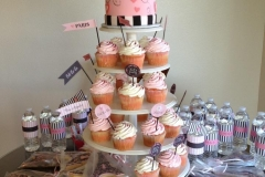 3571, birthday, paris, pink, black, white, cupcake, cupcakes, cookie, cookies, eiffle tower