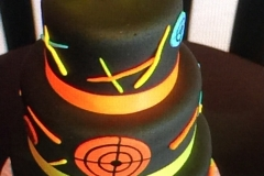 3578, tenth birthday, 10th birthday, laser tag, black, orange, neon, tiered