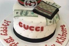 3132, 13th birthday, thirteenth birthday, gucci, wallet, bracelet, money, 100 dollar bill, black, red, white