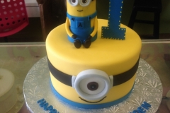 1981, first birthday, 1st birthday, minion, despicable me,  yellow, blue, figure