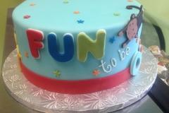 1985, first birthday, 1st birthday, fun to be one, monkey, red, blue, yellow, orange