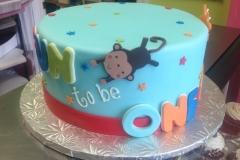 1990, first birthday, 1st birthday, fun to be one, monkey, red, blue, yellow, orange