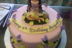 2000, 4th birthday, fourth birthday, figure, butterfly, butterflies, flower, flowers, fairy, fairies, pink, purple, yellow