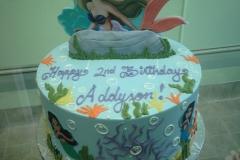 2004, 2nd birthday, second birthday, mermaid, ariel, disney, princess, the little mermaid, water, underwater, sea, ocean, fish, mermaids, blue, edible image