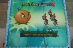 2019, birthday, plants vs zombies, pvz, blue, green, orange, edible image