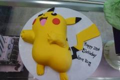 P1000002, 23rd birthday, twenty third birthday, picachu, pokemon, pokemon go, carved, yellow