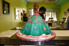 P1000020, 12th birthday, twelfth birthday, barbie, barbie cake, doll, dress, butterfly, flower, butterflies, flowers, blue, green, pink, teal