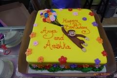 P1000021, birthday, curious george, balloon, balloons, monkey, flower, flowers, yellow