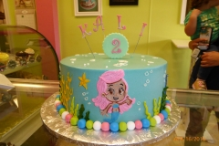 3000, second birthday, 2nd birthday, bubble guppies, molly, underwater, ocean, sea, blue, pink