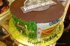 3001, fifth birthday, 5th birthday, jurassic park, jurassic world, dinosaurs, dinosaur, edible image, brown, green