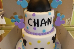 3003, birthday, disney, mickey mouse, ears, dot, dots, black, white, blue, purple, tiered