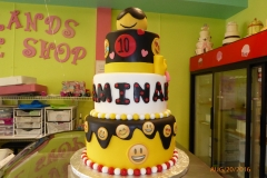 3015, 10th birthday, tenth birthday, emoji, emojis, yellow, black, white, red, figure, figures, tiered