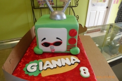3017, 8th birthday, eighth birthday, tv, television, cartoon, green, carved