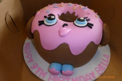 3019, 9th birthday, ninth birthday, donut, carved, pink, brown