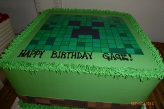 3021, birthday, edible image, green, minecraft, creeper