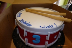 3022, 3rd birthday, third birthday, drum, drumsticks, drumstick, white, red, blue