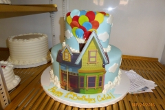 3027, first birthday, 1st birthday, up, pixar, balloon, balloons, house, tiered, edible image
