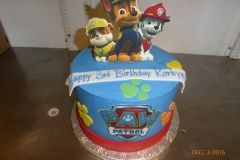 3036, 3rd birthday, third birthday, paw patrol, blue, red, yellow, green, edible image