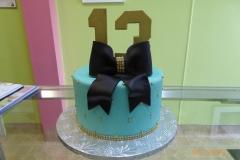 3277, 13th birthday, thirteenth birthday, blue, gold, ribbon, dot, dots,