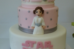 3278, birthday, star wars, leia, princess leia, pink, white, r2d2, tiered, carved, figure, figures