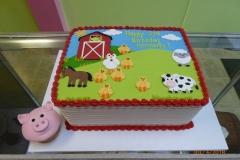 3283, 2nd birthday, second birthday, far, barn, farmyard, barnyard, pig, sheep, chicken, chick, cow, horse, cupcake