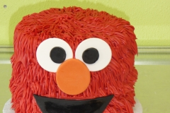 3259, birthday, elmo, red, face, black, white, orange