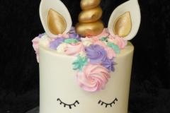 3261, 7th birthday, seventh birthday, unicorn, pink, purple, gold, green, blue