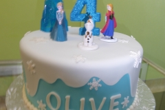 3262, 4th birthday, fourth birthday, frozen, elsa, ana, olaf, snow, snowflakes, snowflake, white, blue