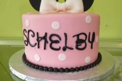 3265, birthday, minnie mouse, ears, disney, pink, white, black, dot, dots, bow, bows