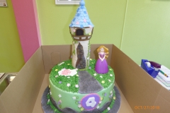 3268, 4th birthday, fourth birthday, tangled, rapunzel, tower, disney, princess, disney princess, green, blue