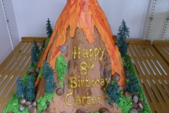3173, 8th birthday, eighth birthday, volcano, forest, tree, trees, rock, rocks, lava, eruption, carved