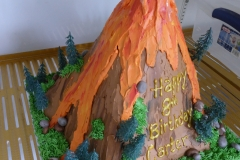 3174, 8th birthday, eighth birthday, volcano, forest, tree, trees, rock, rocks, lava, eruption, carved