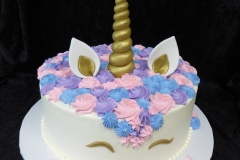 3178, birthday, unicorn, face, blue, pink, purple, white