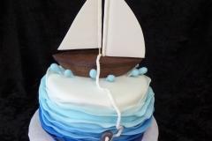 3181, birthday, sailboat, boat, bear, teddy bear, teddy, ocean, water, sea, fish, anchor, figure, figures, blue, white